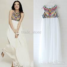 maxi dresses on sale 2013 hot fashion white chiffon dress party maxi dress embroidery