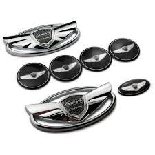 hyundai genesis coupe badge 7pcs 3d wing hyundai genesis coupe front wheelrear badge