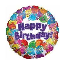 birthday helium balloons brightly coloured happy birthday foil helium balloon florist