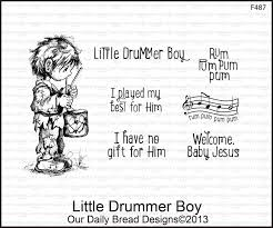 drummer boy cards lights card and decore