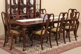 Dining Room Chairs Cherry Sold Knob Creek Cherry 1992 Vintage Dining Set Table 8 Chairs