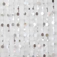 90x180cm beaded door curtains retro silver disk design mq 037