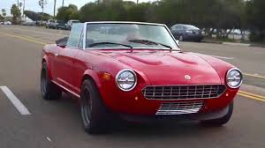 electric 1980 fiat 124 spider tesla electric youtube