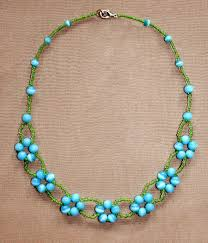 necklace patterns with beads images Free pattern for necklace blue flowers blue flowers free jpg