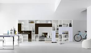 Modern White Bookshelves by Various Options Furniture Living Room With Modern Design Modulo