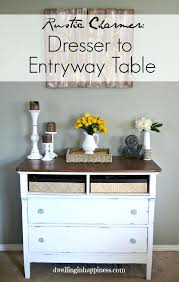 Entryway Table With Baskets Entryway Dresser A Dresser Turned Into A Rustic Entryway Table