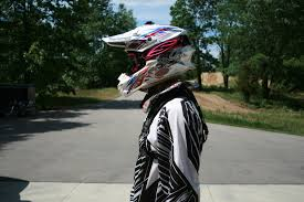 evs motocross helmet omega x1 neck brace on test rider click link to read review http