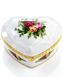 royal albert jewelry box country roses musical