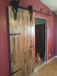 Painted Barn Doors by Interior Beauty Textured Wood Rustic Sliding Barn Door Decor