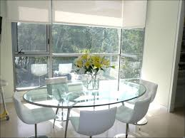 dining room amazing round pedestal dining table round glass