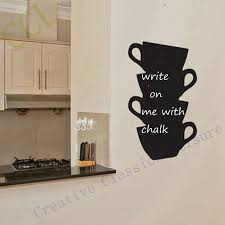 sticker robot picture more detailed picture about free shipping free shipping kitchen wall stickers coffee home decor kitchen chalkboard cups blackboard vinyl wall