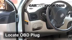 Diagnostic Port Car Engine Light Is On 2006 2011 Hyundai Accent What To Do 2007