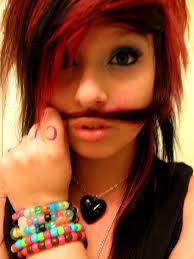 medium length scene hairstyles mustache 3 scene kid by derrangedinsanity69 on deviantart