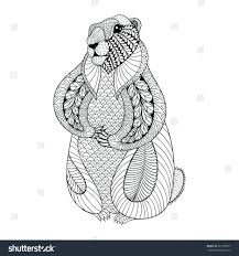 groundhog shadow coloring pages book 2016 free printable stock