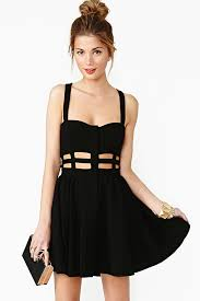 dress gal gal band apart skater dress in black lyst