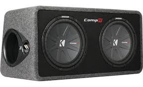 kicker 40dcwr122 ported enclosure with dual 12