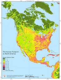North America World Map by The Human Footprint On North America Maps Pinterest
