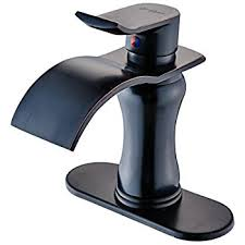 Brushed Bronze Bathroom Fixtures Aquafaucet Waterfall Spout Single Handle Bathroom Sink Faucet