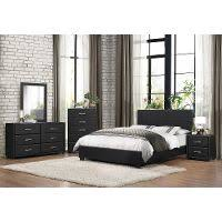 Merlot Contemporary Piece Full Bedroom Set Milan RC Willey - Rc willey black bedroom set