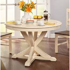 simple living vintner country style antique white round dining