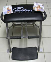 Exercise Chair As Seen On Tv Amazon Com Malibu Pilates Chair With 3 Workout Dvds Pilates
