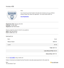 example of a invoice how to send an invoice to multiple registrants u2013 handshake help center