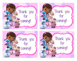 Doc Mcstuffins Home Decor Free Doc Mcstuffin Birthday Party Printables Delicate Construction