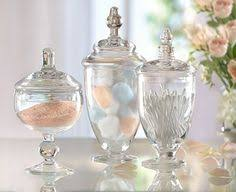 bathroom apothecary jar ideas shapely glass pedestal bonbon apothecary sweet jar home