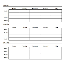 weekly workout schedule template best business template