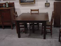 Antique Oak Dining Tables Voorhees Craftsman Mission Oak Furniture Dining Tables