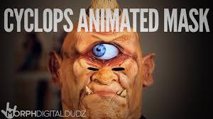 digital halloween mask morphdigitaldudz cyclops animated mask youtube