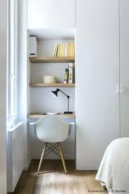 bureau dans un placard idee rangement bureau bureau intergre dans rangement placard