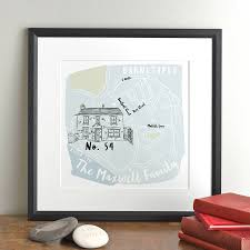 Map Home Personalised Map Of Your Home By Letterfest Notonthehighstreet Com