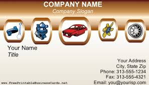 Car Name Card Design Car Repair Business Card