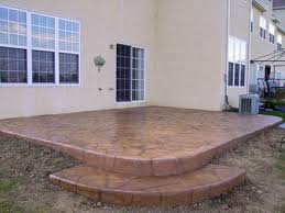 Concrete Patio With Pavers Benefits Of Using Stamped Concrete Over Concrete Pavers