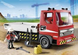 playmobil bmw amazon com playmobil flatbed construction truck toys u0026 games