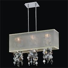crystal l shade chandelier 71 most ace marvelous rectangular shade chandelier fabric white with