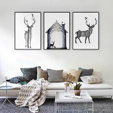 ful abstract deer painting oil picture printed on canvas mural art