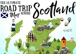 Dundee Scotland Map The Ultimate Map Of Things To See When Visiting Scotland Hand