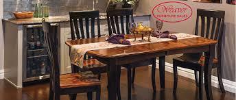 Dining Room Furniture Sales Weaver Furniture Sales Handcrafted Heirloom Amish Furniture