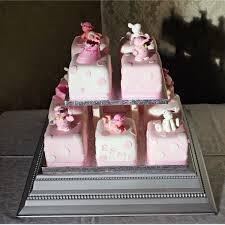 pink baby blocks new baby cakes delivered to edinburgh glasgow