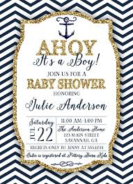 nautical baby shower invitation navy and gold nautical invitation