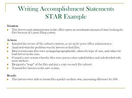 resume accomplishment statements examples resume resume example