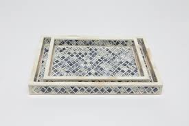 inlaid bone trays in gray mitchell hill charleston home décor
