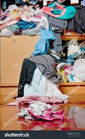 messy closet messy disorder clothes over closet untidy stock photo 530068918