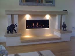 modern fireplace with lights good fireplace lighting ideas