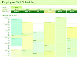 download employee shift schedule excel template for microsoft