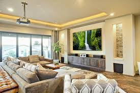 Living Room With Home Theater Design Living Room With Home - Living room home theater design