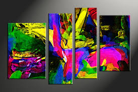 Home Decor Paintings by 4 Piece Abstract Colorful Oil Paintings Huge Canvas Art