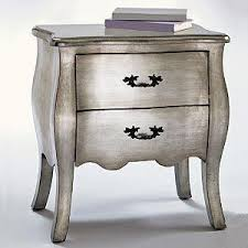 Silver Leaf Nightstand Silver Leaf Bombe Chest Storage